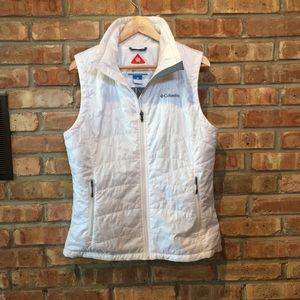 Columbia White Omni-Heat Vest